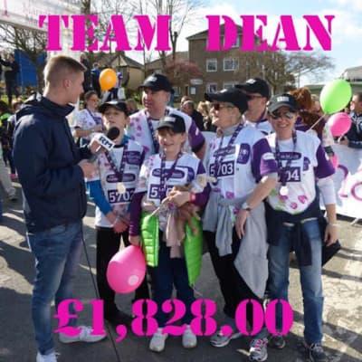 Team Dean raise £1,828.00