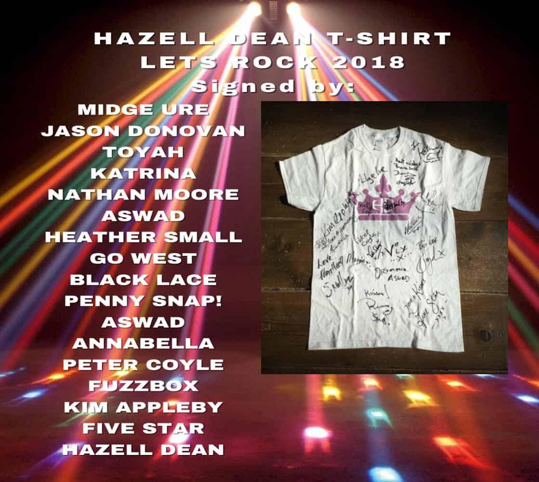 Hazell's Signed T-shirt?
