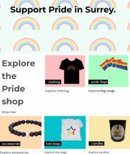 Pride In Surrey Merch